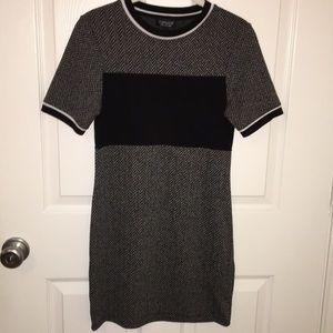 TopShop Bodycon Black and White Dress